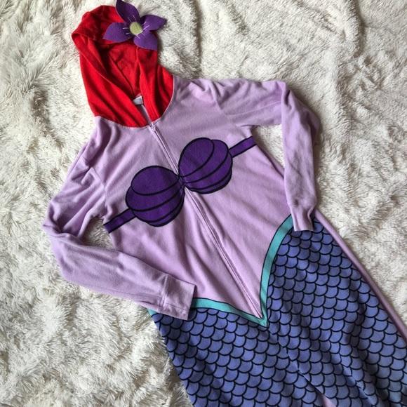 4260cd8090e Disney Other - Disney Ariel Little Mermaid Adult Onesie Pajama